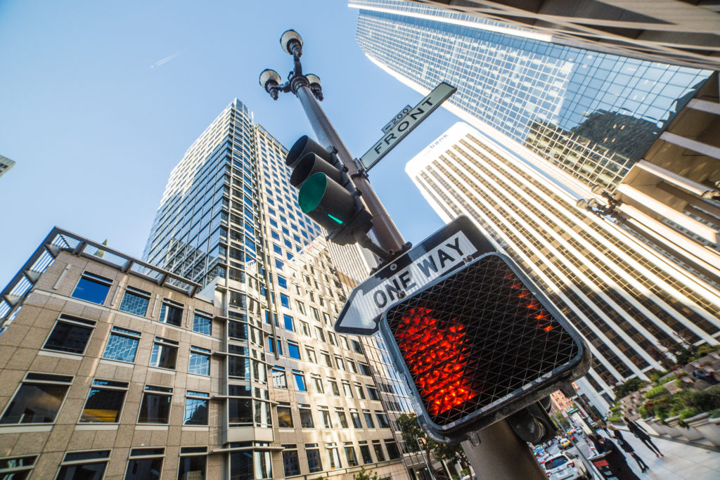 no-way-sign-on-traffic-light-pole-in-the-city-picjumbo-com